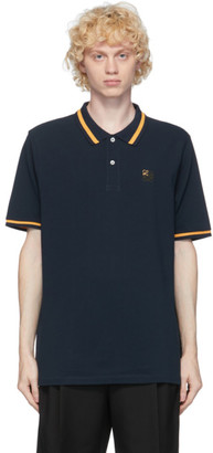 Loewe Navy Anagram Embroidered Polo
