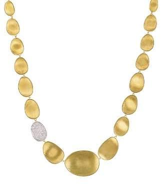 "Marco Bicego Diamond Lunaria Collar Necklace in 18K Gold, 16.5"""