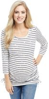 Maternity Oh Baby by MotherhoodTM Striped Polka-Dot Tee