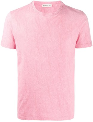 Etro short sleeve paisley print T-shirt