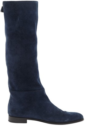 Sergio Rossi \N Blue Suede Boots
