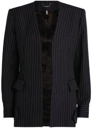 Chloé Wool Collarless Pinstripe Blazer