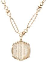 Kendra Scott Davis Short Pendant Necklace (Rose Gold/Gold Dusted/Pink Illusion) Necklace