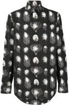 Alexander McQueen peacock feather print shirt