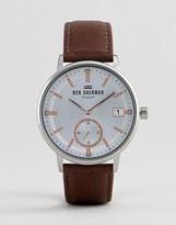 Ben Sherman Wb071sbr Watch In Brown Leather
