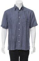 Brioni Printed Linen Shirt