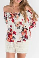 Miss Me Floral Off Shoulder Blouse