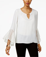Thalia Sodi Bell-Sleeve Keyhole Top, Only at Macy's