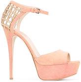 Elie Saab platform sandals - women - Leather/Suede - 38