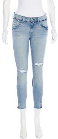 Amo Mid-Rise Twist Two-Tone Jeans