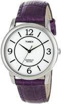 Timex Women's T2N690 Leather Quartz Watch