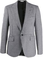 Alexander McQueen hybrid check blazer
