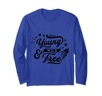 Young Wild And Free Proud American Patriotic Long Sleeve T-Shirt