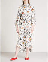 Osman Charday printed silk-satin shirt dress