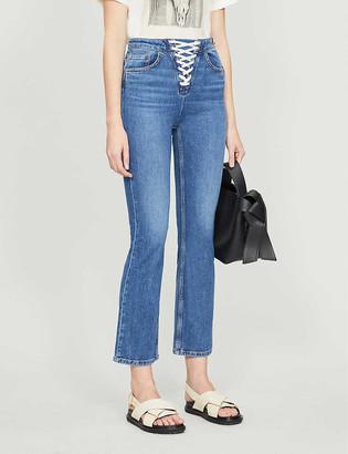 Maje Paper high-rise stretch-denim jeans