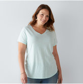 Plus Size SONOMA Goods for LifeTM Essential V-Neck Tee