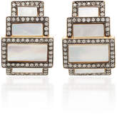 Sorellina 18K Gold And White Mother Of Pearl Diamond Earrings