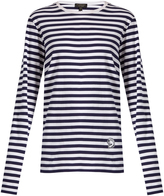 Burberry Helmet-appliqué striped T-shirt