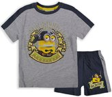 Boys Official Minions T-Shirt & Short Set New Kids Despicable Me Outfit