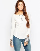 Free People Patterned Cuff Top
