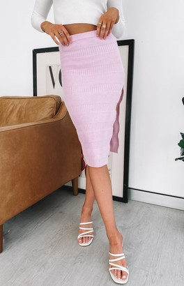 Beginning Boutique Willow Edge Skirt Lilac