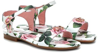 Dolce & Gabbana Floral leather sandals