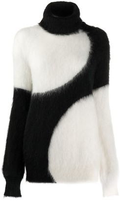 Gianluca Capannolo two tone knitted jumper