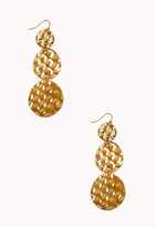 Forever 21 Hammered Circle Earrings