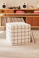 Urban Outfitters Wonky Grid Ottoman