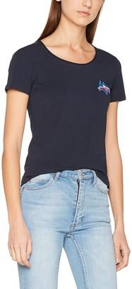 Tommy Hilfiger Women's Lizzy Logo Diamante Round-NK TOP SS T-Shirt