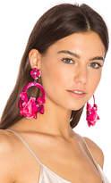 Ranjana Khan Flower Hoop Earring in Pink.