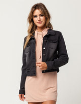 IVY & MAIN Womens Black Denim Jacket
