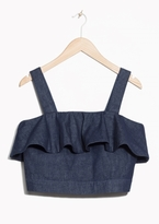 Other Stories Frilled Denim Top