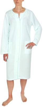 Plus Size Miss Elaine Essentials Snap Short Robe