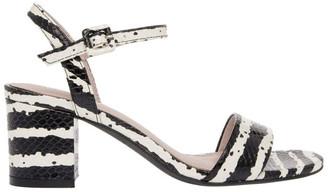 Basque Roma Zebra Print Leather Sandal