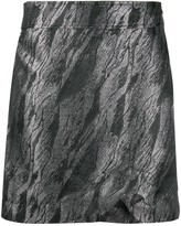 Ganni metallic finish mini skirt