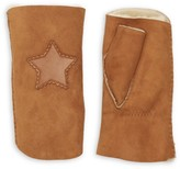Agnelle Sherif Star-Patch Shearling Gloves