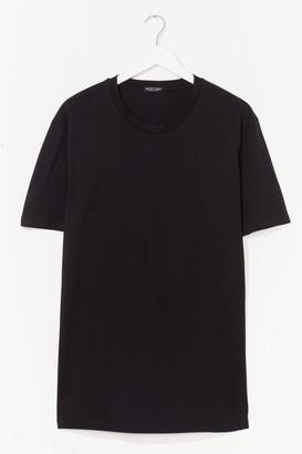 Nasty Gal Womens ORGANIC OVERSIZED T-SHIRT DRESS - Black - Onesize, Black