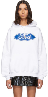 Versace White Ford Edition Sports Hoodie