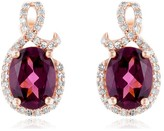 Effy Jewelry Effy Bordeaux 14K Rose Gold Rhodolite Garnet and Diamond Earrings, 3.14 TCW