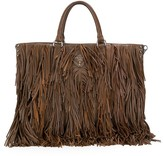 Prada Pre Owned 2000's fringed tote bag