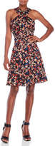 Tracy Reese Printed Crepe Fit and Flare Dress