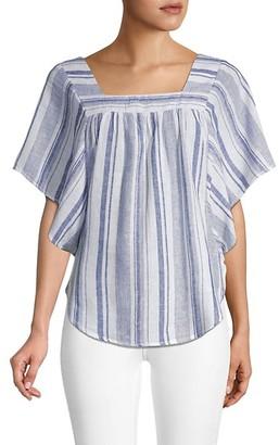 BeachLunchLounge Striped Kimono-Sleeve Top