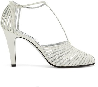 Givenchy Cage-effect Leather Sandals - Womens - White