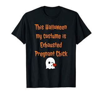 IDEA Exhausted Pregnant Chick Halloween Pregnancy Costume T-Shirt