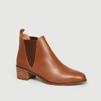 Bobbies Paris - Chestnut Brown Leather Soho Chelsea Boots - leather | Chestnut Brown | 40