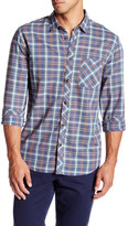 Jeremiah Zachary Voile Long Sleeve Plaid Shirt