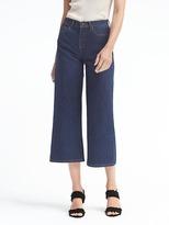 Banana Republic Dark Wash High-Rise Wide-Leg Crop Jean