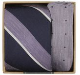 The Tie Bar Fathers Day Linen and Silk Tie and Pocket Square Set