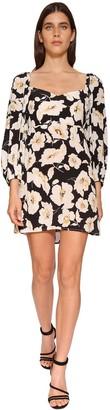 BA&SH Fire Floral Printed Mini Dress